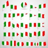 Banderas de Italia. Fotos de archivo