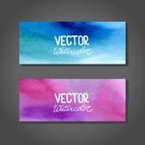 Banderas de la acuarela del vector abstraiga el fondo Imagen de archivo