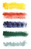 Banderas de la acuarela fijadas Fotos de archivo