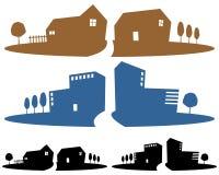 Banderas de la agencia de las propiedades inmobiliarias libre illustration