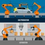 Banderas de la automatización fijadas ilustración del vector