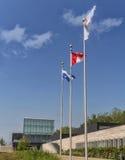 Banderas de la biblioteca de Boisé Fotos de archivo