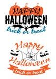 Banderas de la celebración de días festivos de Halloween Imágenes de archivo libres de regalías