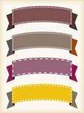 Banderas de la cinta Imagen de archivo libre de regalías
