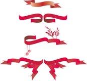 Banderas de la cinta de la Navidad Fotos de archivo libres de regalías
