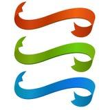 Banderas de la cinta del color Imagen de archivo libre de regalías