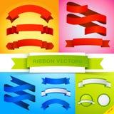 Banderas de la cinta del vector Imagenes de archivo