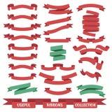 Banderas de la cinta fijadas Foto de archivo libre de regalías