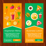 Banderas de la comida Imagen de archivo