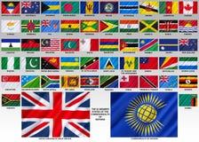 Banderas de la Commonwealth de naciones Imagen de archivo libre de regalías
