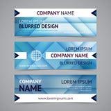 Banderas de la compañía del vector con los fondos borrosos libre illustration