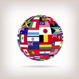 Banderas de la esfera Imagenes de archivo