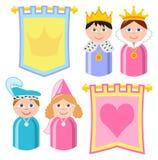 Banderas de la familia real Imagen de archivo libre de regalías