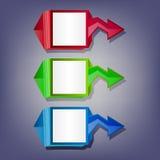 Banderas de la flecha ilustración del vector