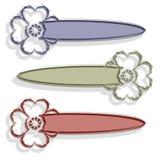 Banderas de la flor stock de ilustración