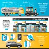 Banderas de la gasolinera ilustración del vector