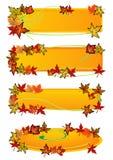 Banderas de la hoja de la caída libre illustration