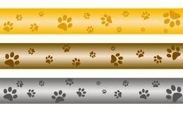 Banderas de la impresión de la pata ilustración del vector