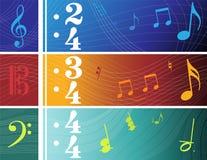 Banderas de la música Imagen de archivo libre de regalías