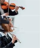 Banderas de la música clásica imágenes de archivo libres de regalías