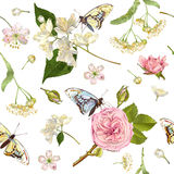 Banderas de la mariposa de la flor Fotografía de archivo libre de regalías