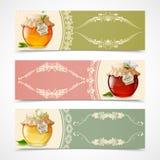 Banderas de la miel horizontales stock de ilustración