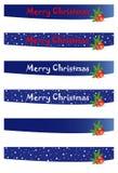 Banderas de la Navidad Imagen de archivo