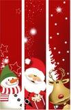 Banderas de la Navidad Imágenes de archivo libres de regalías