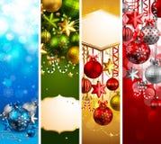 Banderas de la Navidad Foto de archivo libre de regalías