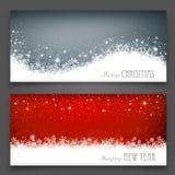 Banderas de la Navidad Fotografía de archivo
