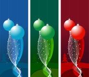 Banderas de la Navidad Fotos de archivo libres de regalías