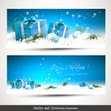 Banderas de la Navidad Fotografía de archivo libre de regalías