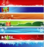 Banderas de la Navidad con el espacio para su texto Imagenes de archivo