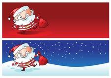 Banderas de la Navidad de Santa Imagenes de archivo