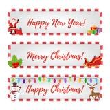 Banderas de la Navidad del vector en venta, descuentos ilustración del vector
