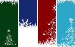 Banderas de la Navidad. Ponga su texto aquí. stock de ilustración