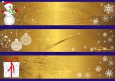 Banderas de la Navidad. vector. Imagen de archivo libre de regalías