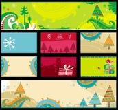 Banderas de la Navidad, vector. Imágenes de archivo libres de regalías