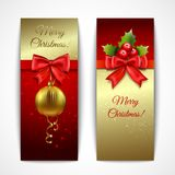 Banderas de la Navidad verticales Imágenes de archivo libres de regalías