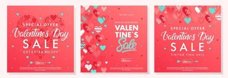 Banderas de la oferta especial de día de San Valentín libre illustration