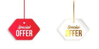 Banderas de la oferta especial Ilustración del vector Fotos de archivo libres de regalías