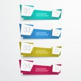 Banderas de la papiroflexia del vector con opciones del número Foto de archivo libre de regalías