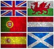 Banderas de la parte 2 de Europa occidental Fotografía de archivo