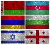 Banderas de la parte 1 de Europa Oriental Imágenes de archivo libres de regalías