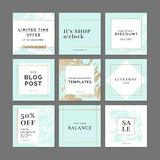 Banderas de la plantilla de la moda del diseño del minimalismo libre illustration