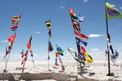 Banderas de la reunión de Dakar Fotos de archivo libres de regalías