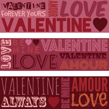 Banderas de la tarjeta del día de San Valentín Foto de archivo libre de regalías