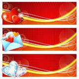Banderas de la tarjeta del día de San Valentín Imagen de archivo