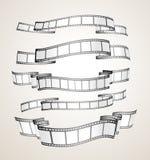 Banderas de la tira de la película ilustración del vector