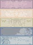 Banderas de la vendimia Imagen de archivo libre de regalías